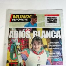 Coleccionismo deportivo: MUNDO DEPORTIVO MUERE BLANCA FERNANDEZ OCHOA. Lote 215550020