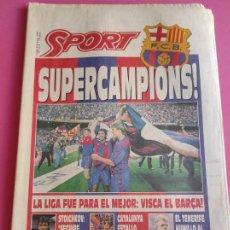 Coleccionismo deportivo: DIARIO SPORT BARÇA CAMPEON LIGA FUTBOL 91/92 - SUPERCAMPIONS FC BARCELONA 1991/1992 TENERIFE POSTER. Lote 215563696