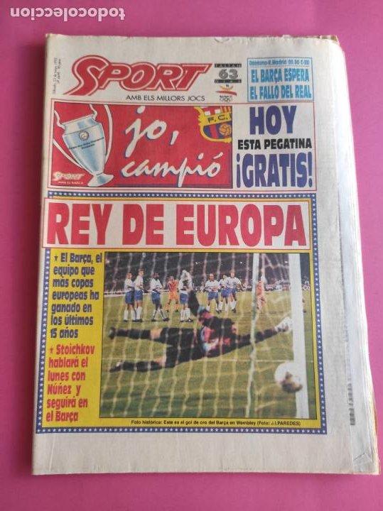 DIARIO SPORT 1992 - BARÇA REY DE EUROPA - FC BARCELONA CAMPEON COPA DE EUROPA FUTBOL 91/92 STOICHKOV (Coleccionismo Deportivo - Revistas y Periódicos - Sport)