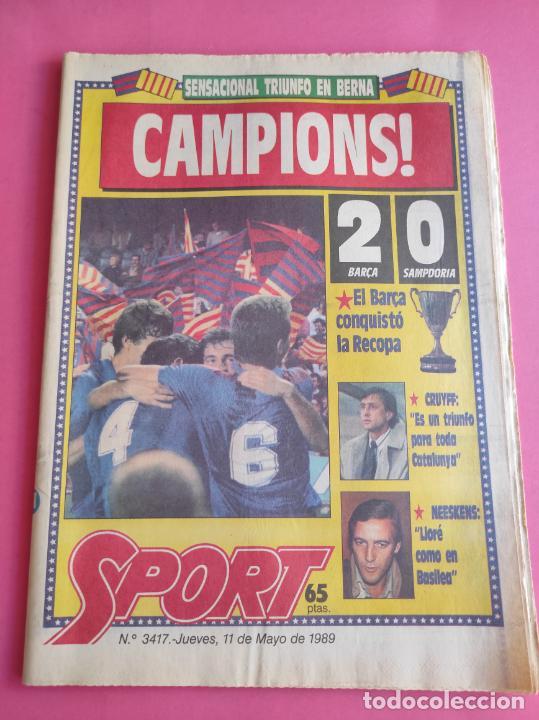 DIARIO SPORT BARÇA CAMPEON RECOPA DE EUROPA FUTBOL 88/99 - FC BARCELONA 1988/1989 POSTER PLANTILLA (Coleccionismo Deportivo - Revistas y Periódicos - Sport)