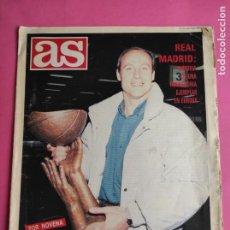 Coleccionismo deportivo: SUPLEMENTO DIARIO AS - REAL MADRID CAMPEON COPA KORAC 1988 - POSTER PLANTILLA BASKET 87/88. Lote 216471048