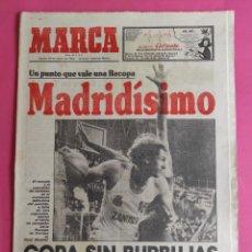 Coleccionismo deportivo: DIARIO MARCA REAL MADRID CAMPEON RECOPA DE EUROPA DE BALONCESTO 83/84 - BASKET 1983/1984. Lote 216473041