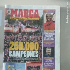 Coleccionismo deportivo: DIARIO MARCA 14/05/2010 250.000 CAMPEONES. Lote 216786568