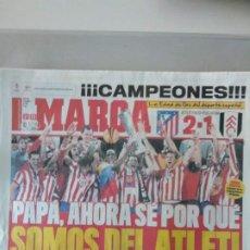 Coleccionismo deportivo: DIARIO MARCA 13/05/2010 CAMPEONES DE LA EUROPA LEAGUE. Lote 216796352