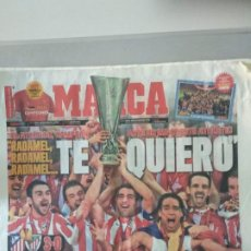 Coleccionismo deportivo: DIARIO MARCA 10/05/2012 CAMPEONES DE LA EUROPA LEAGUE. Lote 216796655