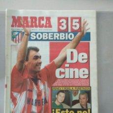 Collectionnisme sportif: DIARIO MARCA 22/02/1996 VALENCIA 3 -5 ATLÉTICO. Lote 216797661