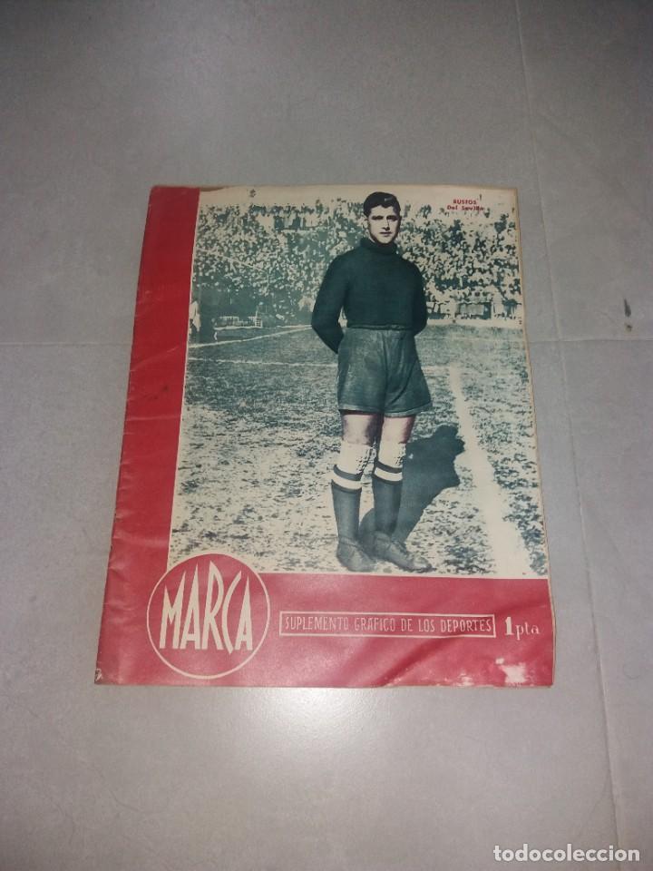 PERIÓDICO MARCA. BUSTOS (SEVILLA). SUPLEMENTO GRÁFICO DE LOS DEPORTES, Nº116 (1945) (Coleccionismo Deportivo - Revistas y Periódicos - Marca)
