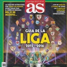 Coleccionismo deportivo: GUIA LIGA 2015/2016 DE AS. Lote 217089686