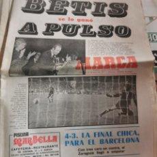 Coleccionismo deportivo: PERIODICO MARCA. 26 JUNIO 1977. FINAL COPA DEL REY. ATHLETIC CLUB-REAL BETIS. BETIS CAMPEON. FÚTBOL. Lote 217214240