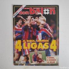 Coleccionismo deportivo: REVISTA DON BALON 968. EL BARÇA CAMPEON, 4 LIGAS. 1994. Lote 217516812