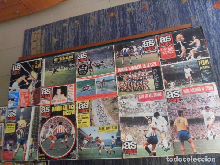 Coleccionismo deportivo: LOTE 34 AS COLOR CON PÓSTER 47 49 50 51 55 56 57 58 83 84 85 88 92 93(2) 102 ETC...AMPLIADO 13-9-20. - Foto 3 - 214710651