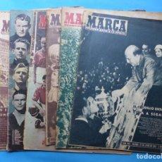 Coleccionismo deportivo: REVISTA MARCA - 6 REVISTAS - AÑOS 1940-1950 - VER FOTOS ADICIONALES. Lote 217736482