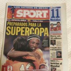 Coleccionismo deportivo: 14-8-2006 SUPERCOPA ESPANYOL BARCELONA RED BULLS FC BARCELONA. Lote 217872700