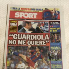 Coleccionismo deportivo: 26-8-2010 JOAN GAMPER FC BARCELONA MILAN AC PRIMER GOL VILLA CON EL BARCELONA. Lote 217872771
