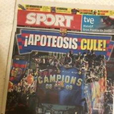 Coleccionismo deportivo: 29-5-2009 FC BARCELONA CAMPEON CHAMPIONS. Lote 217872845