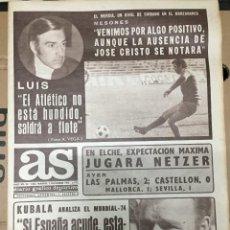Coleccionismo deportivo: AS (2-12-1973) ELCHE REAL MADRID KUBALA ATLETICO MADRID MURCIA LUIS ARAGONES ANGEL ATIENZA. Lote 218115647