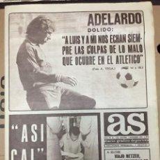 Coleccionismo deportivo: AS (1-12-1973) ADELARDO ATLETICO MADRID MUNDIAL ALEMANIA SELECCIONES JOSE LEGRA BOXEO ARRUA ZARAGOZA. Lote 218115713
