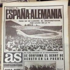 Coleccionismo deportivo: AS (24-11-1973) HOY ALEMANIA 2-1 ESPAÑA JOSE ANTONIO ODRIOZOLA ALPINISMO SELECCION ESPAÑOLA. Lote 218116112
