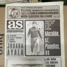 Coleccionismo deportivo: AS(17-11-73)CARNEVALI ATLETICO MADRID MARAÑON JESUS MARTINEZ VALENCIA HOLANDA BELGICA RAYO ESTADIO. Lote 218116862