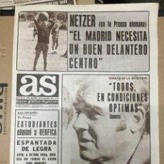 Coleccionismo deportivo: AS (15-11-1973) NETZER KUBALA JESUS MARTINEZ CHILE MUNDIAL ALEMANIA TONONO ESPAÑA SELECCION LEVANTE. Lote 218116952