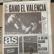 Coleccionismo deportivo: AS (12-11-1973) ATLETICO MADRID 0-0 CASTELLON RAYO 2-1 OSASUNA VALENCIA REAL MADRID JORNADA. Lote 218117222