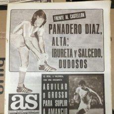 Coleccionismo deportivo: AS (10-11-1973) PANADERO DIAZ ATLETICO MADRID NIEVES PANADELL DOPICO BOXEO SOL VALENCIA. Lote 218117493
