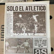 Coleccionismo deportivo: AS (8-11-1973) COPA EUROPA ATLETICO MADRID 2-2 DINAMO BUCAREST ATHLETIC BILBAO BEROE AJAX BENFICA. Lote 218117683