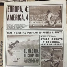 Coleccionismo deportivo: AS (1-11-1973) EUROPA 4-4 AMERICA REAL MADRID ATLETICO MADRID CAPON DERBI. Lote 218118190