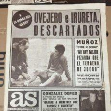 Coleccionismo deportivo: AS(2-11-1973)DERBI ATLETICO REAL MADRID ESPAÑA 3-0 GRECIA CAPON HEREDIA ALPINISMO KURDISTAN HIMALAYA. Lote 218118328