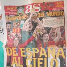 Coleccionismo deportivo: AS PERIODICO 12-07-2010 CAMPEONES DEL MUNDO -0-1. Lote 218142537