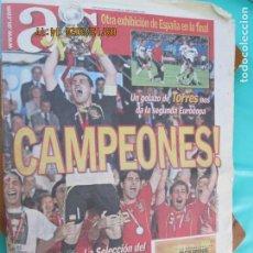 Coleccionismo deportivo: AS PERIODICO 30-JUNIO 2008 -ESPAÑA CAMPEONA DE EUROPA EUROCOPA FUTBOL Nº 13623. Lote 218143743