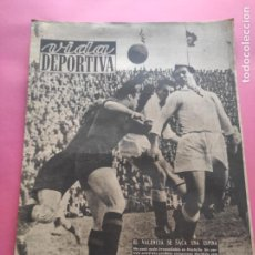 Coleccionismo deportivo: VIDA DEPORTIVA Nº 181 1949 BADALONA 0-3 GIRONA - VALENCIA 4-2 BARÇA LIGA 48/49 - DI MAGGIO. Lote 218149748