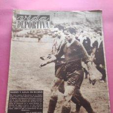 Coleccionismo deportivo: VIDA DEPORTIVA Nº 183 1949 ESPANYOL 5-4 NASTIC - ATHLETIC-BARÇA SAN MAMES LIGA 48/49 MARIANO CAÑARDO. Lote 218150197