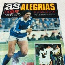 Collectionnisme sportif: AS N 519 LA REAL SOCIEDAD CAMPEÓN DE LIGA FERNANDO MARTIN FICHA MADRID. Lote 218177137
