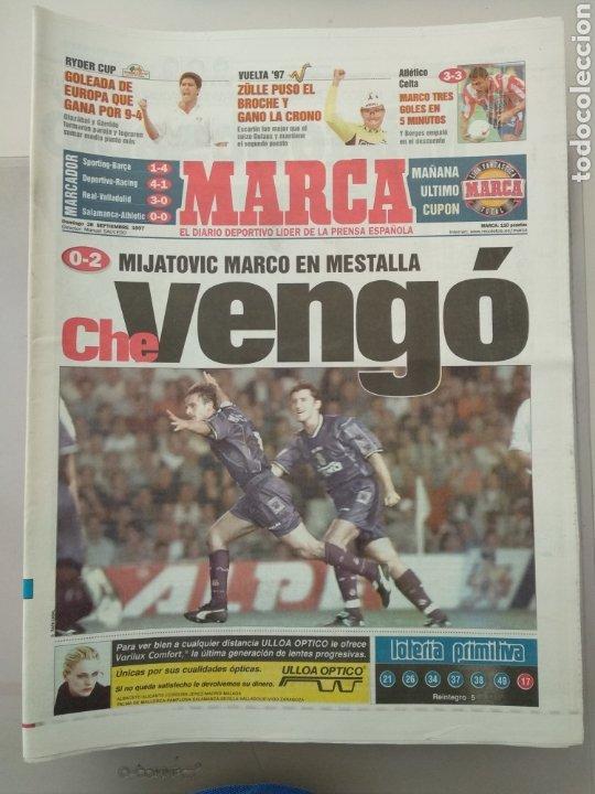 DIARIO MARCA 28/09/1997 MIJATOVIC MARCO EN MESTALLA (Coleccionismo Deportivo - Revistas y Periódicos - Marca)