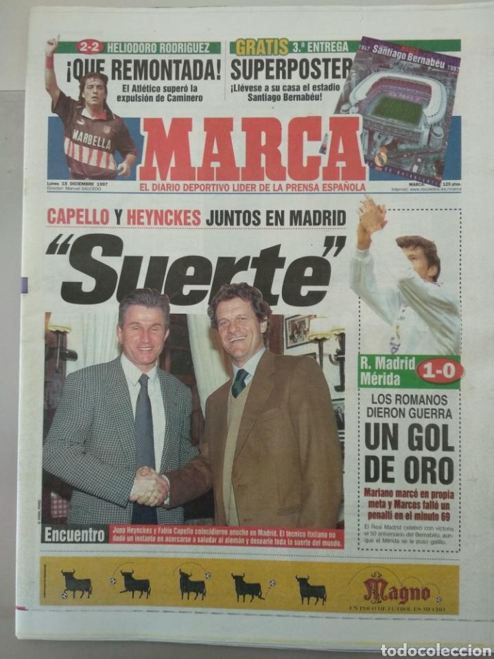DIARIO MARCA 15/12/1997 VER PORTADA (Coleccionismo Deportivo - Revistas y Periódicos - Marca)