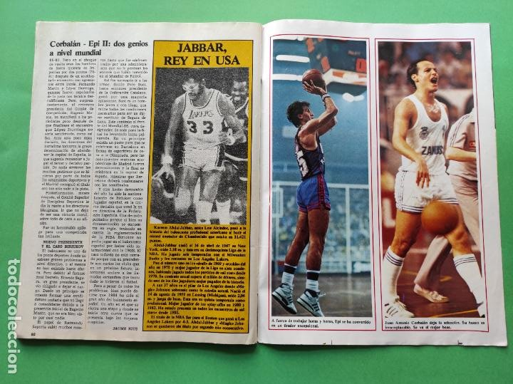 Coleccionismo deportivo: REVISTA DON BALON EXTRA 1984 - RESUMEN DEPORTIVO AÑO 84 - SUPER POSTER - Foto 6 - 218201762