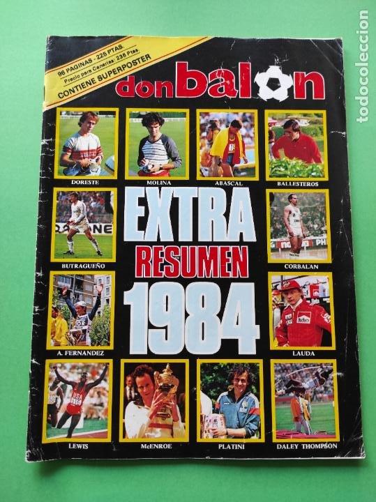 REVISTA DON BALON EXTRA 1984 - RESUMEN DEPORTIVO AÑO 84 - SUPER POSTER (Coleccionismo Deportivo - Revistas y Periódicos - Don Balón)