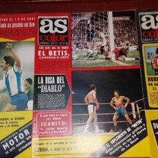 Coleccionismo deportivo: LOTE REVISTAS AS COLOR 1977. Lote 218322865