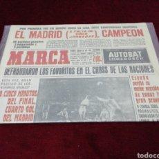 Coleccionismo deportivo: DIARIO MARCA. 18 DE MARZO DE 1963. EN EL PLÁSTICO.. Lote 218702486
