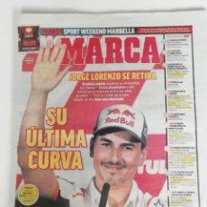Coleccionismo deportivo: MARCA: RETIRADA DE JORGE LORENZO. Lote 218775985