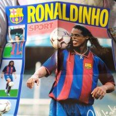 Coleccionismo deportivo: DON BALON NUMERO 1450 CON POSTER GIGANTE RONALDINHO. Lote 27215123