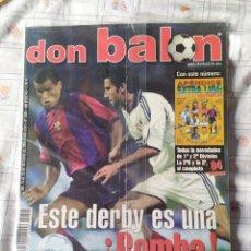 Coleccionismo deportivo: DON BALON NUMERO 1305 CON EXTRA APENDICE LIGA 2000 2001 POSTER BARCELONA. Lote 39248072