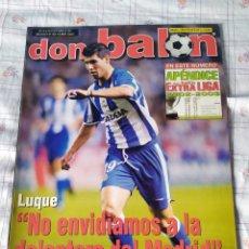 Coleccionismo deportivo: DON BALÓN NÚMERO 1405 APENDICE LIGA 02/03 2002 2003 POSTER RONALDO REAL MADRID. Lote 83700544