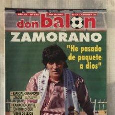 Coleccionismo deportivo: FÚTBOL DON BALÓN 985 - COPAS EUROPEAS - CRUYFF - ZAMORANO - ESPECIAL CHAMPIONS - ESPAÑA. Lote 218821647