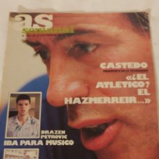 Coleccionismo deportivo: AS SEMANAL NÚMERO 86 /1987. Lote 218839126