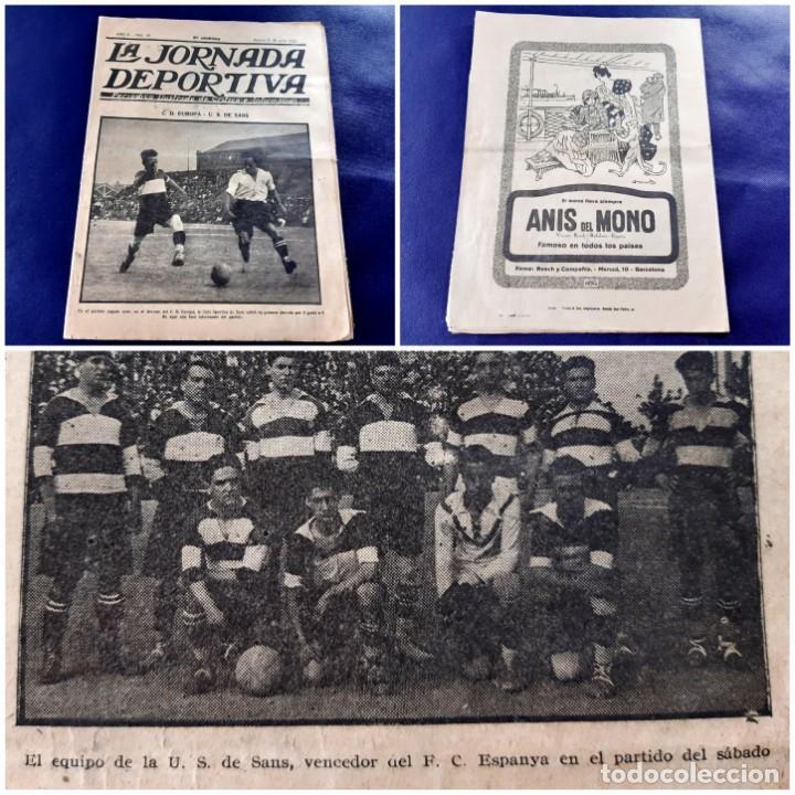 PERIODICO LA JORNADA DEPORTIVA -1922-Nº 39-CD.EUROPA-U.S DE SANS (Coleccionismo Deportivo - Revistas y Periódicos - La Jornada Deportiva)
