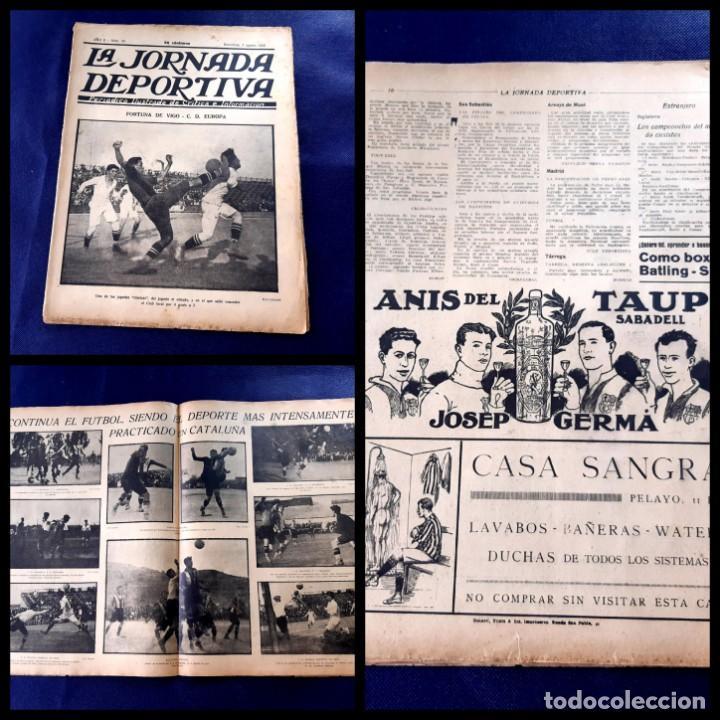 PERIODICO LA JORNADA DEPORTIVA -1922-Nº 59- FORTUNA DE VIGO -C.D EUROPA (Coleccionismo Deportivo - Revistas y Periódicos - La Jornada Deportiva)
