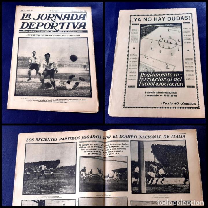 PERIODICO LA JORNADA DEPORTIVA -1923 -Nº 100 - ITALIA-ALEMANIA (Coleccionismo Deportivo - Revistas y Periódicos - La Jornada Deportiva)