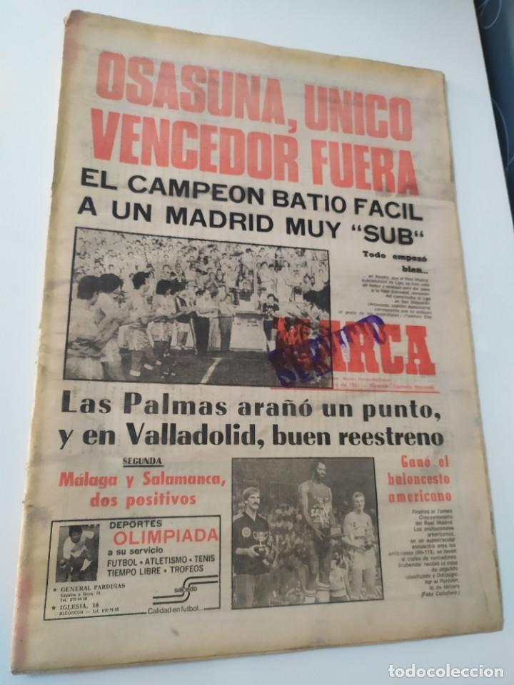 DIARIO MARCA 21 DE SEPTIEMBRE DE 1981. (Coleccionismo Deportivo - Revistas y Periódicos - Marca)